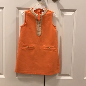 Orange little girl dress by Janie and Jack